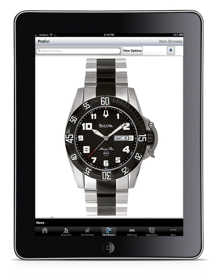 Order taking iPad app - Jewelry example