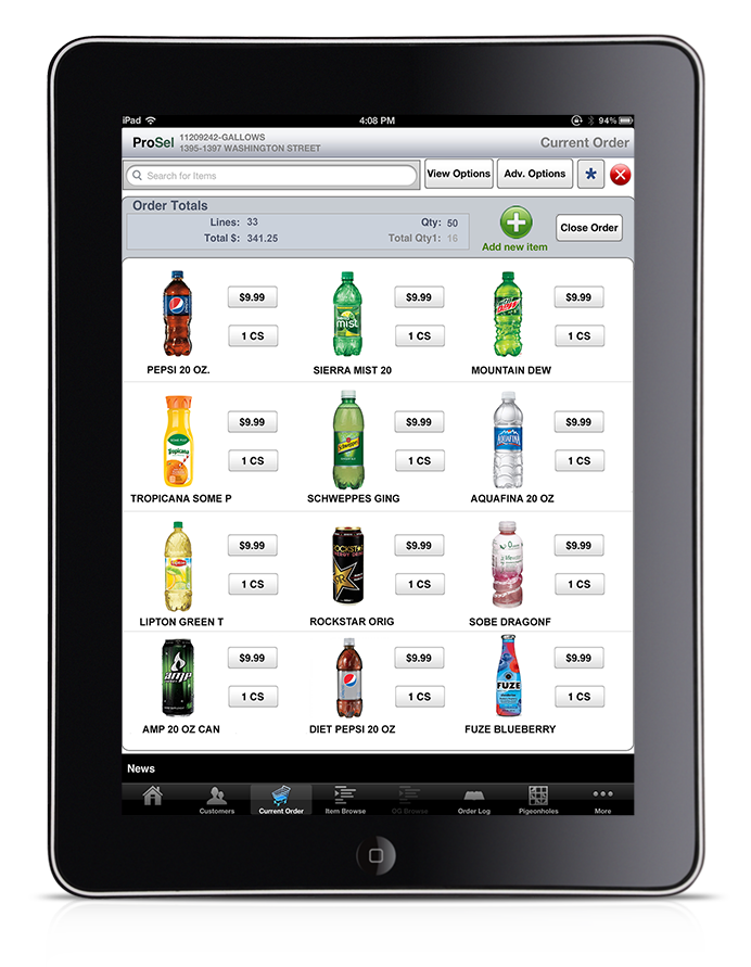 iPad app for beverage