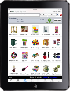 iPad app used by Kole Imports