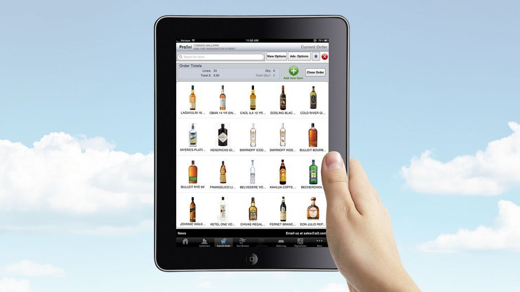 Sales order managment app for iPad used by Bulova